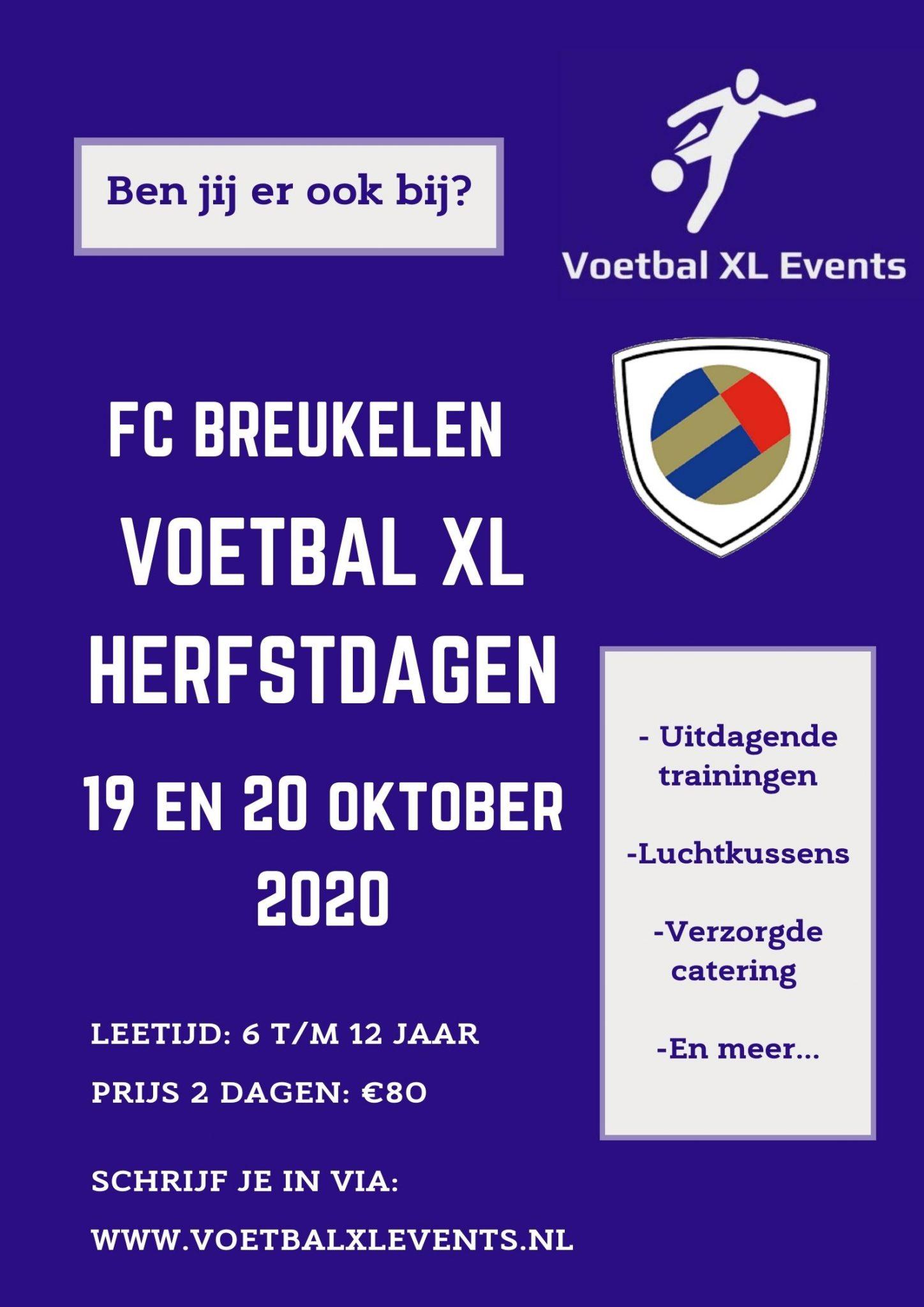 Voetbaldagen bij FC Breukelen 19 & 20 oktober