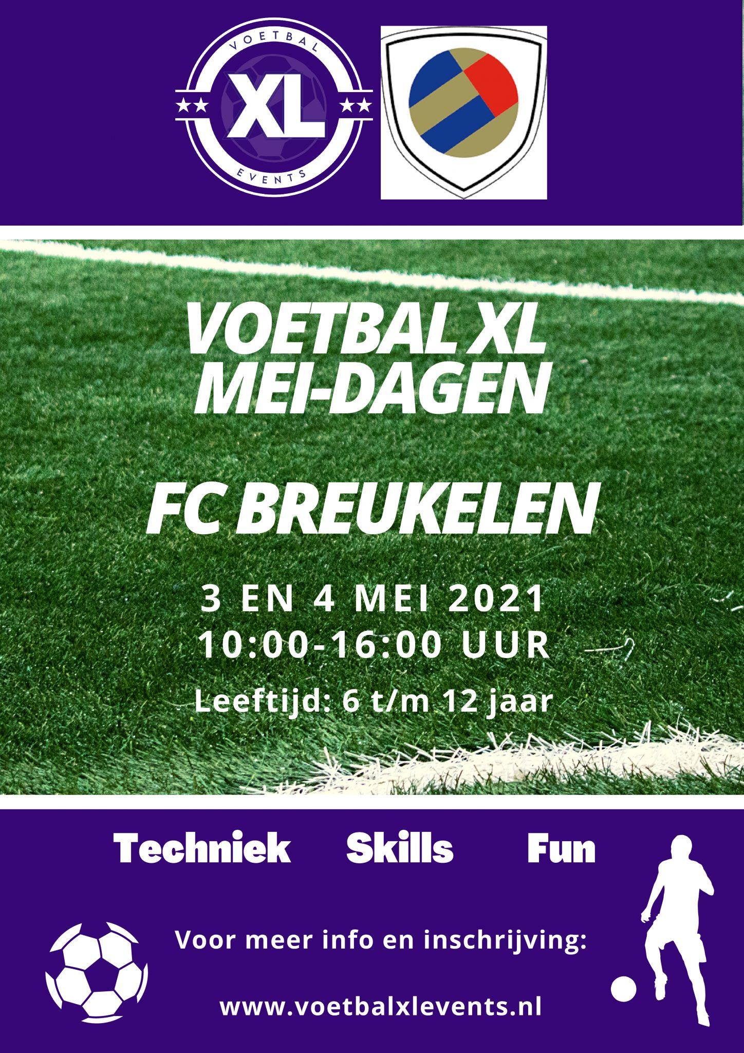 Voetbal XL Voetbaldagen 3 en 4 mei aanstaande bij FC Breukelen