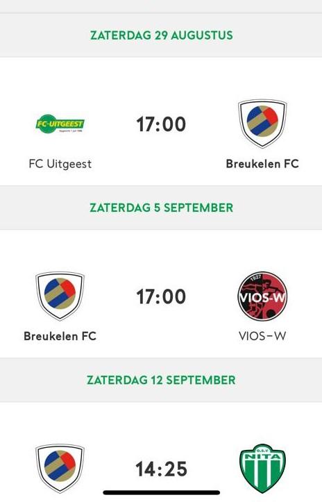 Bekerprogramma FC Breukelen 1