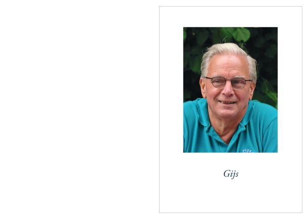 Overlijden Gijs Veenstra