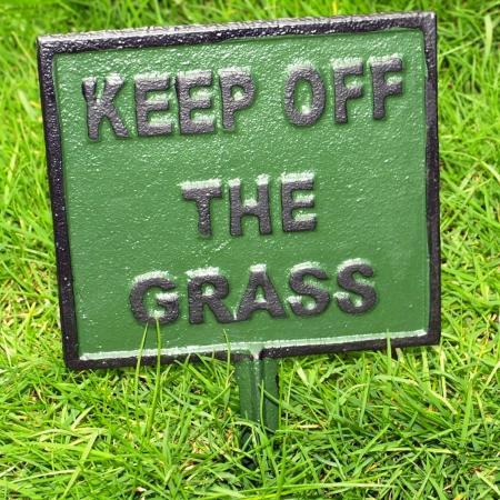 De grasvelden zijn weer ingezaaid