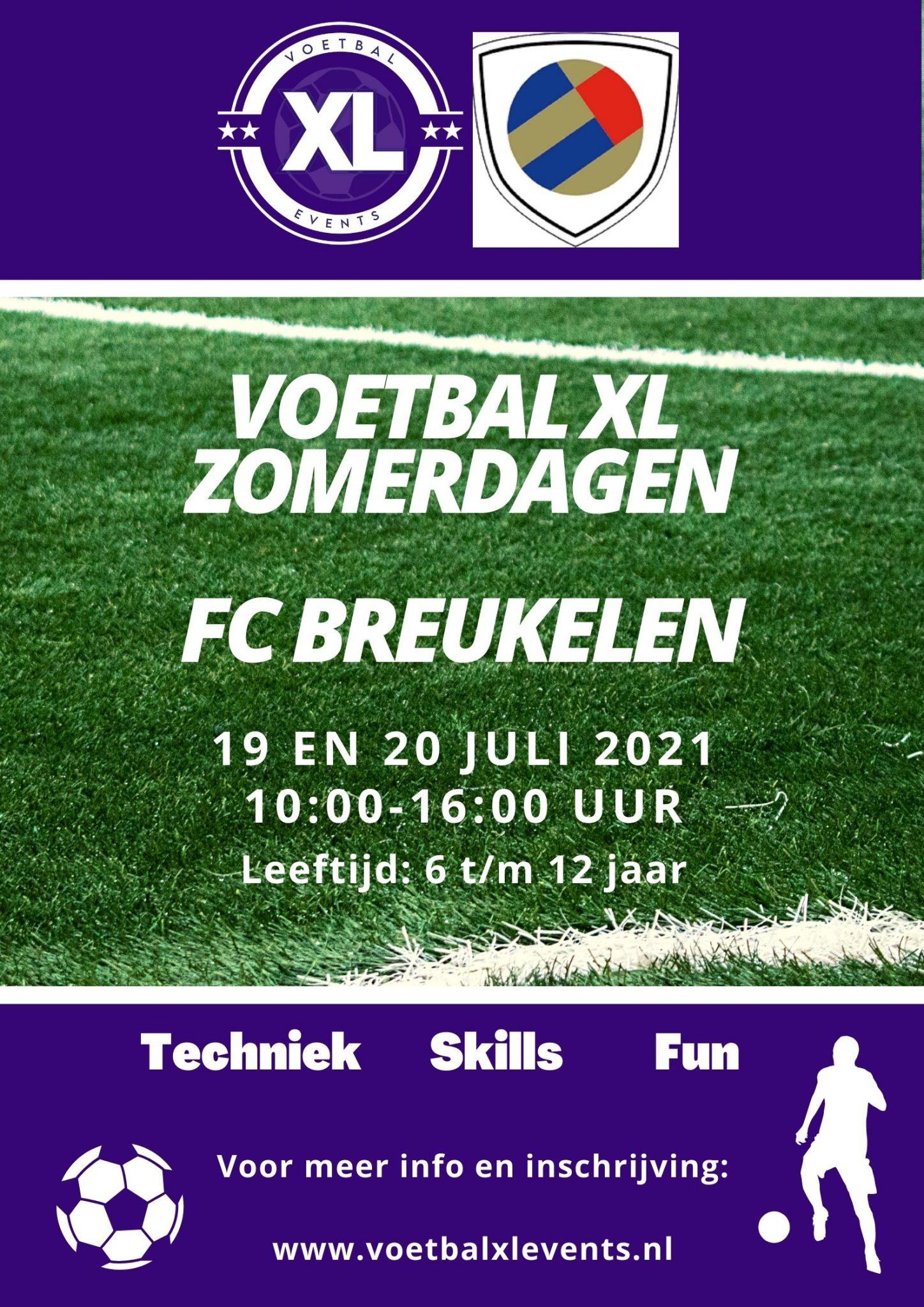 Voetbal XL- jeugddagen 19 en 20 juli aanstaande